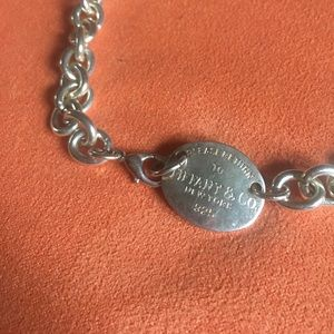 Tiffany & Co Chainlink Plaque Choker Necklace